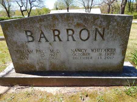 BARRON, WILLIAM PAUL  (DOCTOR) - Boone County, Arkansas | WILLIAM PAUL  (DOCTOR) BARRON - Arkansas Gravestone Photos