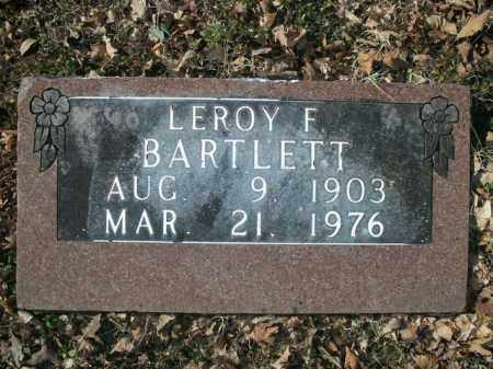 BARTLETT, LEROY F. - Boone County, Arkansas | LEROY F. BARTLETT - Arkansas Gravestone Photos