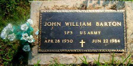 BARTON  (VETERAN), JOHN WILLIAM - Boone County, Arkansas | JOHN WILLIAM BARTON  (VETERAN) - Arkansas Gravestone Photos