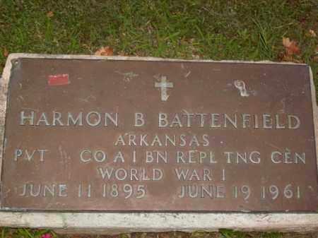 BATTENFIELD  (VETERAN WWI), HARMON BRUCE - Boone County, Arkansas | HARMON BRUCE BATTENFIELD  (VETERAN WWI) - Arkansas Gravestone Photos