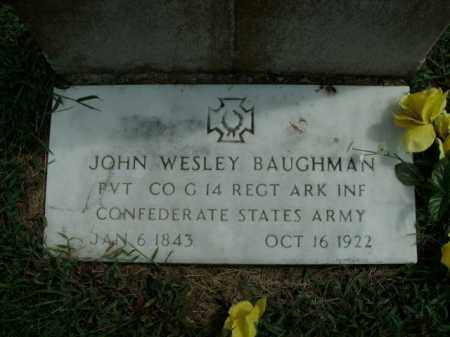 BAUGHMAN  (VETERAN CSA), JOHN WESLEY - Boone County, Arkansas | JOHN WESLEY BAUGHMAN  (VETERAN CSA) - Arkansas Gravestone Photos