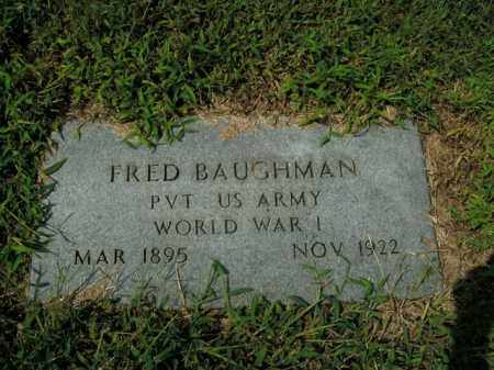 BAUGHMAN  (VETERAN WWI), FRED - Boone County, Arkansas | FRED BAUGHMAN  (VETERAN WWI) - Arkansas Gravestone Photos