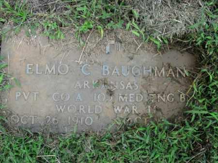 BAUGHMAN  (VETERAN WWII), ELMO C - Boone County, Arkansas | ELMO C BAUGHMAN  (VETERAN WWII) - Arkansas Gravestone Photos