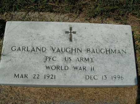 BAUGHMAN  (VETERAN WWII), GARLAND VAUGHN - Boone County, Arkansas | GARLAND VAUGHN BAUGHMAN  (VETERAN WWII) - Arkansas Gravestone Photos