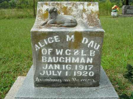 BAUGHMAN, ALICE M. - Boone County, Arkansas | ALICE M. BAUGHMAN - Arkansas Gravestone Photos