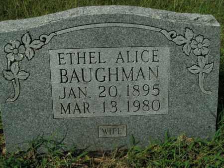 BAUGHMAN, ETHEL ALICE - Boone County, Arkansas | ETHEL ALICE BAUGHMAN - Arkansas Gravestone Photos