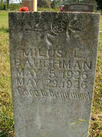 BAUGHMAN, MILUS L. - Boone County, Arkansas | MILUS L. BAUGHMAN - Arkansas Gravestone Photos