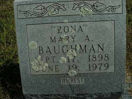 BAUGHMAN, MARY A. - Boone County, Arkansas | MARY A. BAUGHMAN - Arkansas Gravestone Photos