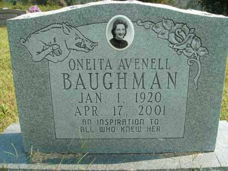 BAUGHMAN, ONEITA AVENELL - Boone County, Arkansas | ONEITA AVENELL BAUGHMAN - Arkansas Gravestone Photos