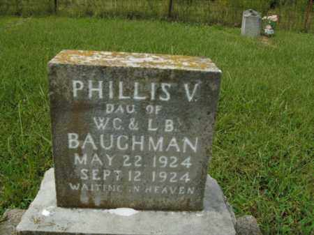 BAUGHMAN, PHILLIS V. - Boone County, Arkansas | PHILLIS V. BAUGHMAN - Arkansas Gravestone Photos