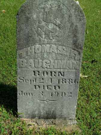 BAUGHMAN, THOMAS F. - Boone County, Arkansas | THOMAS F. BAUGHMAN - Arkansas Gravestone Photos