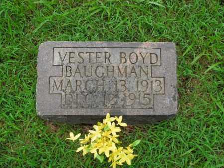 BAUGHMAN, VESTER BOYD - Boone County, Arkansas | VESTER BOYD BAUGHMAN - Arkansas Gravestone Photos