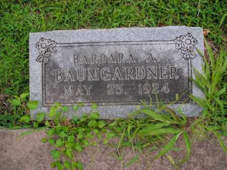 BAUMGARDNER, BARBARA A. - Boone County, Arkansas | BARBARA A. BAUMGARDNER - Arkansas Gravestone Photos