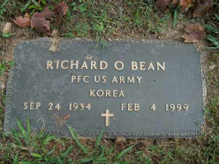 BEAN  (VETERAN KOR), RICHARD O. - Boone County, Arkansas | RICHARD O. BEAN  (VETERAN KOR) - Arkansas Gravestone Photos