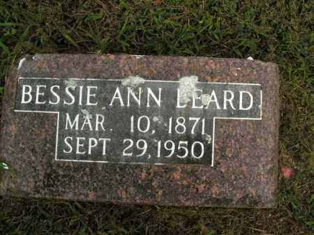 BEARD, BESSIE ANN - Boone County, Arkansas | BESSIE ANN BEARD - Arkansas Gravestone Photos