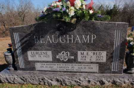 BEAUCHAMP, M.  E.  (RED) - Boone County, Arkansas | M.  E.  (RED) BEAUCHAMP - Arkansas Gravestone Photos