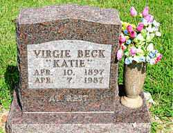 BECK, VIRGIE - Boone County, Arkansas | VIRGIE BECK - Arkansas Gravestone Photos