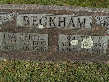 BECKHAM, EVA GERTIE - Boone County, Arkansas | EVA GERTIE BECKHAM - Arkansas Gravestone Photos