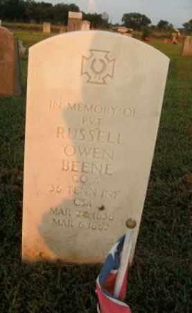 BEENE  (VETERAN CSA), RUSSELL OWEN - Boone County, Arkansas | RUSSELL OWEN BEENE  (VETERAN CSA) - Arkansas Gravestone Photos