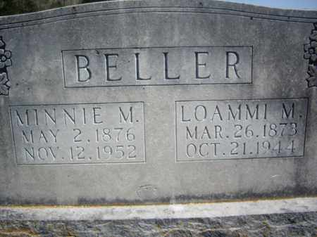 BELLER, MINNIE M - Boone County, Arkansas | MINNIE M BELLER - Arkansas Gravestone Photos