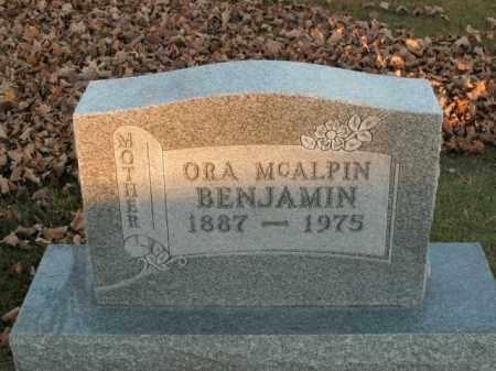 MCALPIN BENJAMIN, ORA - Boone County, Arkansas | ORA MCALPIN BENJAMIN - Arkansas Gravestone Photos