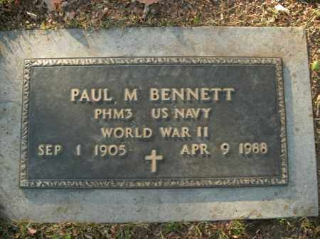 BENNETT  (VETERAN WWII), PAUL M - Boone County, Arkansas | PAUL M BENNETT  (VETERAN WWII) - Arkansas Gravestone Photos