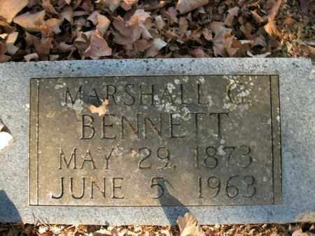 BENNETT, MARSHALL G. - Boone County, Arkansas | MARSHALL G. BENNETT - Arkansas Gravestone Photos