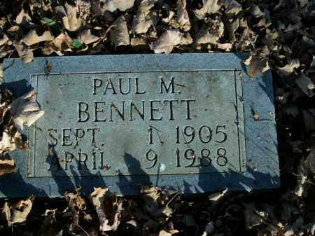 BENNETT, PAUL M. - Boone County, Arkansas | PAUL M. BENNETT - Arkansas Gravestone Photos