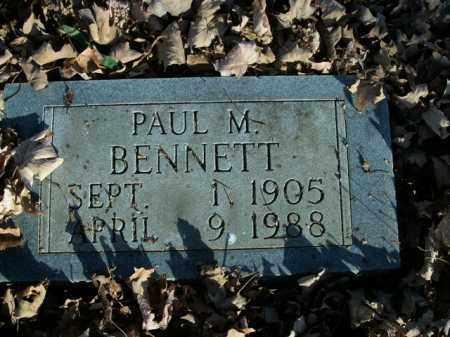 BENNETT, PAUL M. - Boone County, Arkansas | PAUL M. BENNETT - Arkansas Gravestone Photos