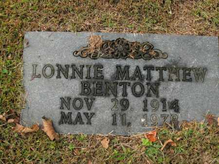 BENTON, LONNIE MATTHEW - Boone County, Arkansas | LONNIE MATTHEW BENTON - Arkansas Gravestone Photos