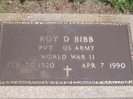BIBB (VETERAN WWII), ROY D. - Boone County, Arkansas | ROY D. BIBB (VETERAN WWII) - Arkansas Gravestone Photos