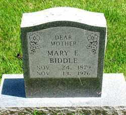 BIDDLE, MARY E - Boone County, Arkansas | MARY E BIDDLE - Arkansas Gravestone Photos