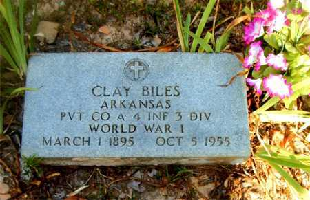BILES  (VETERAN WWI), CLAY - Boone County, Arkansas | CLAY BILES  (VETERAN WWI) - Arkansas Gravestone Photos