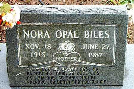 BILES, NORA OPAL - Boone County, Arkansas | NORA OPAL BILES - Arkansas Gravestone Photos