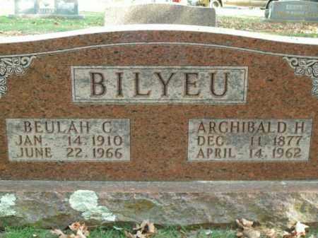 BILYEU, ARCHIBALD H. - Boone County, Arkansas | ARCHIBALD H. BILYEU - Arkansas Gravestone Photos