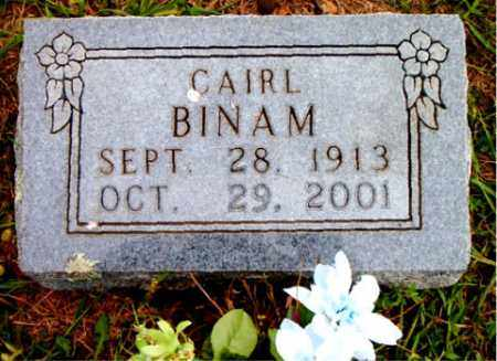 BINAM, CAIRL - Boone County, Arkansas | CAIRL BINAM - Arkansas Gravestone Photos