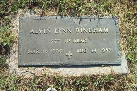 BINGHAM  (VETERAN), ALVIN LYNN - Boone County, Arkansas | ALVIN LYNN BINGHAM  (VETERAN) - Arkansas Gravestone Photos