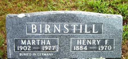 BIRNSTILL, MARTHA - Boone County, Arkansas | MARTHA BIRNSTILL - Arkansas Gravestone Photos
