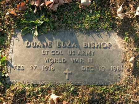 BISHOP  (VETERAN WWII), DUANE ELZA - Boone County, Arkansas | DUANE ELZA BISHOP  (VETERAN WWII) - Arkansas Gravestone Photos