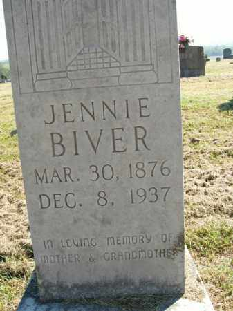 BIVER, JENNIE - Boone County, Arkansas | JENNIE BIVER - Arkansas Gravestone Photos