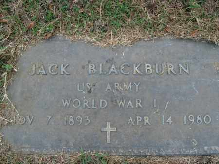 BLACKBURN  (VETERAN WWI), JACK - Boone County, Arkansas | JACK BLACKBURN  (VETERAN WWI) - Arkansas Gravestone Photos