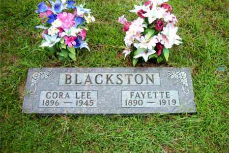 BLACKSTON, FAYETTE - Boone County, Arkansas | FAYETTE BLACKSTON - Arkansas Gravestone Photos