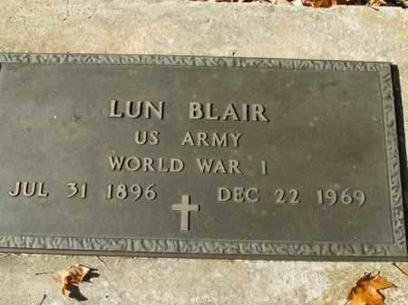 BLAIR  (VETERAN WWI), LUN - Boone County, Arkansas | LUN BLAIR  (VETERAN WWI) - Arkansas Gravestone Photos