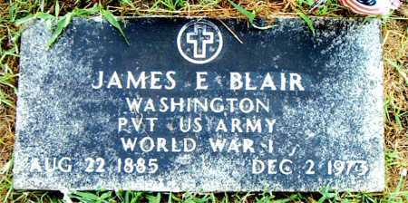 BLAIR  (VETERAN WWI), JAMES E - Boone County, Arkansas | JAMES E BLAIR  (VETERAN WWI) - Arkansas Gravestone Photos