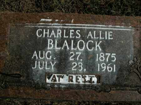 BLALOCK, CHARLES ALLIE - Boone County, Arkansas | CHARLES ALLIE BLALOCK - Arkansas Gravestone Photos