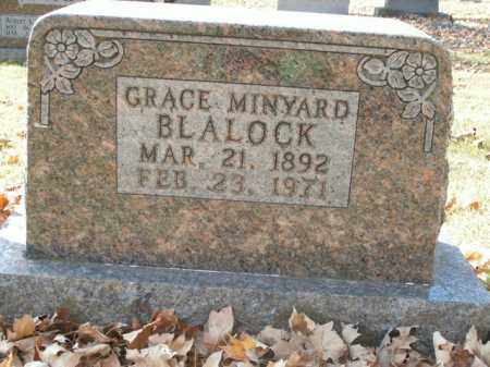 MINYARD BLALOCK, GRACE - Boone County, Arkansas | GRACE MINYARD BLALOCK - Arkansas Gravestone Photos