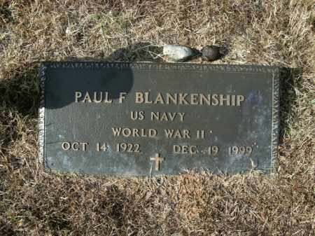BLANKENSHIP  (VETERAN WWII), PAUL F - Boone County, Arkansas | PAUL F BLANKENSHIP  (VETERAN WWII) - Arkansas Gravestone Photos