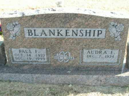 BLANKENSHIP, PAUL F. - Boone County, Arkansas | PAUL F. BLANKENSHIP - Arkansas Gravestone Photos