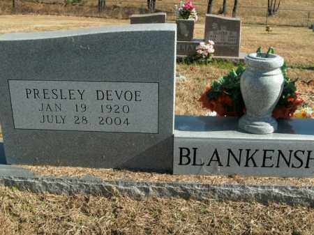 BLANKENSHIP, PRESLEY DEVOE - Boone County, Arkansas | PRESLEY DEVOE BLANKENSHIP - Arkansas Gravestone Photos