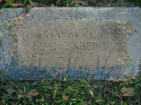 BLATTENBERG, HARRY A. - Boone County, Arkansas | HARRY A. BLATTENBERG - Arkansas Gravestone Photos